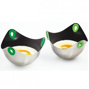 Fusionbrands Set of 2 Stainless Steel Poachpod Egg Poachers